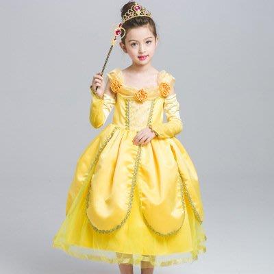 【衣Qbaby】女童萬聖節聖誕節服裝角色扮演#貝兒公主長禮服