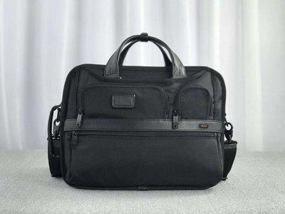 現貨 TUMI  黑色 26180D2 加厚尼龍搭牛皮 真皮 多用 肩側背包 手提包 後背包 斜背 公事包 可放筆電 隔層多 時尚 容量大 耐磨 商務 推薦