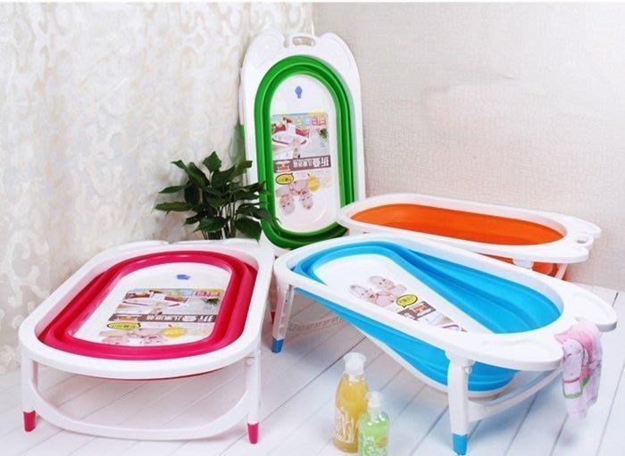 [宅大網] 176151 折疊浴盆 摺疊兒童浴盆 嬰兒 幼兒  藍 綠  共2色可選