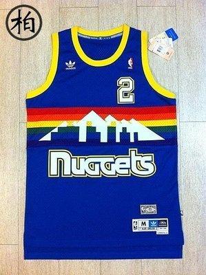 【柏】ADIDAS NBA NUGGETS 金塊隊 2號 ALEX ENGLISH 舊版洞洞材質 HWC 彩虹 復古球衣 M號