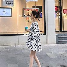 【Cest LaVie】全場包郵 I MISS少女心波點仙女裙女夏2018韓版超仙初戀溫柔裙小個子娃娃裙
