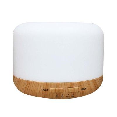 【檜山坊】木紋水氧機-大型 大容量400ML LED情境燈 可添加精油 香氛機