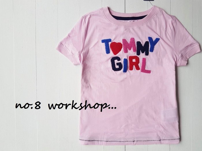 T☆【TOMMY館】☆【TOMMY HILFIGER毛圈LOGO短袖T恤】☆【TOMG001A1】KIDS版(S-M-L-XL)原價1199 6/10到貨