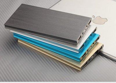 超薄 拉絲 大容量20000mah 超薄鋁合金聚合物行動電源 雙USB孔2.1A和1A適用所有手機和平板