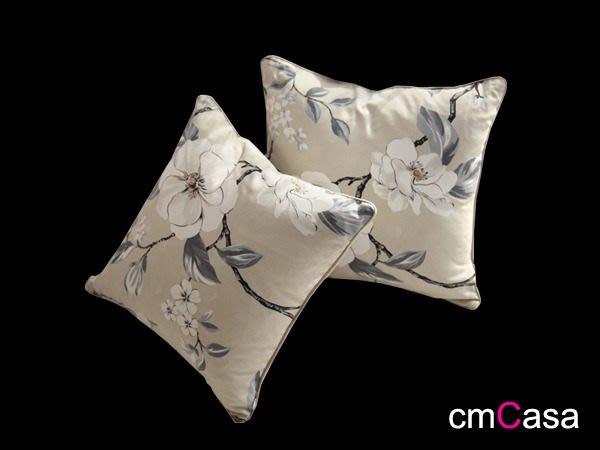 = cmCasa = [3452]英式典雅現代設計 秋天牡丹典雅抱枕套 美式優雅發行