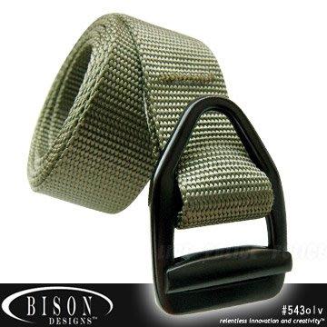 【ARMYGO】BISON DESIGNS 毒蛇V型扣腰帶 #543OLV