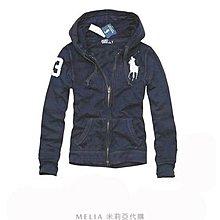 Melia 米莉亞代購 Ralph lauren POLO P秋冬款 經典款 精簡時尚 大馬刺繡 連帽 純棉 外套 夾克