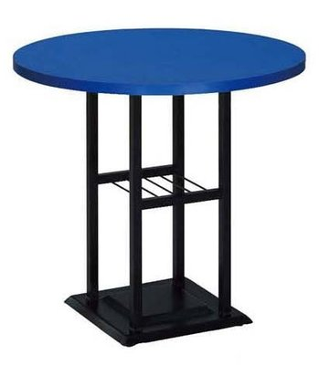 【台南滿5000元免運費】全新 60cm 藍色 圓桌 用餐桌 咖啡簡餐桌 西餐桌 大台南冠均家具批發 B760-11