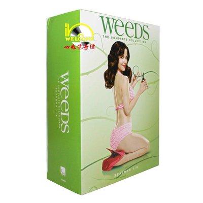 【優品音像】 美劇原版DVD Weeds 單身毒媽1-8季 完整版 22碟裝DVD 精美盒裝
