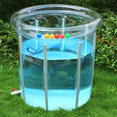 5Cgo 【批發】含稅會員有優惠 3265269721 遊泳池 嬰幼兒 環保加厚透明寶寶 嬰兒遊泳池 80*80塑料支架