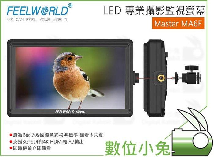 數位小兔【FeelWorld Master 富威德 MA6F LED監看螢幕】遮光罩 HDMI 外接螢幕 5.5吋 顯示