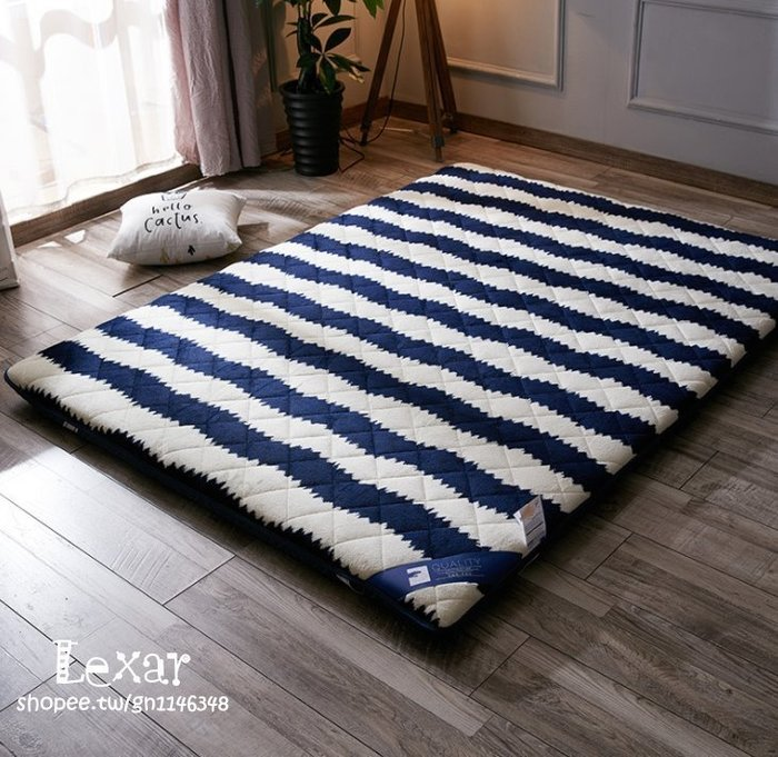 加厚床墊1.5米床折疊榻榻米法萊絨保暖床褥子1.8m1.2米學生0.9m墊