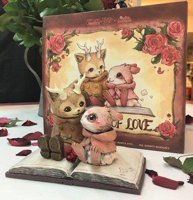 鹿角貓 Morris 棉花兔 Raby The Book of Love 雙人聯展 限定雕像 全球限量200組