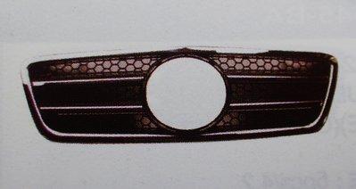 泰山美研社19010208 BENZ 賓士 W210 AMG 99-01年 2線大星 鍍鉻黑 水箱罩