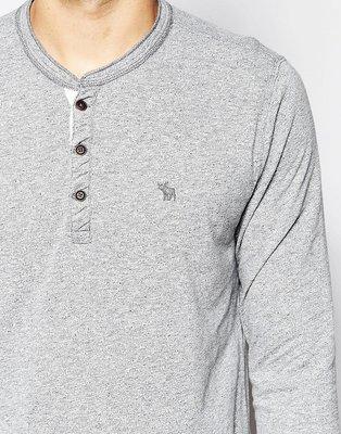 『BAN'S SHOP』Abercrombie & Fitch A&F 長袖T-shirt 淺灰 小鹿 英國購回 保證真品
