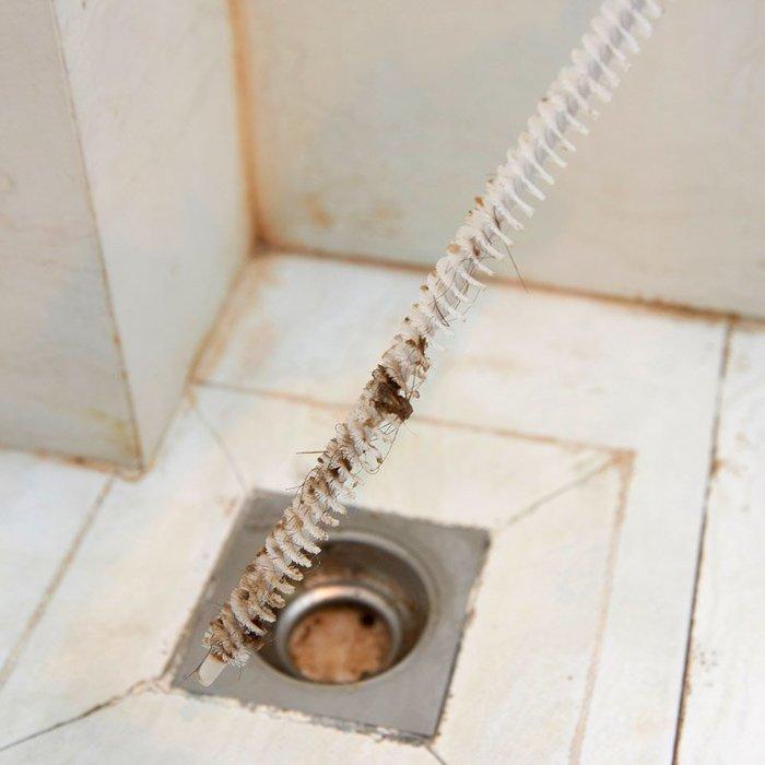 品如衣櫃 軟毛刷 日系清潔劑 居家家下水道疏通器衛生間水池毛發頭發疏通刷廚房水槽管道清理器