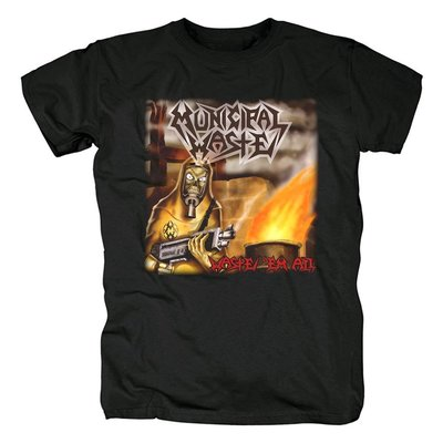 歐美Municipal Waste重金屬Heavy Metal硬搖滾死核鞭撻金屬t恤