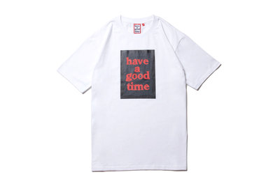 """[ LAB Taipei ] have a good time """"BLACK FRAME S/S TEE""""(White)"""