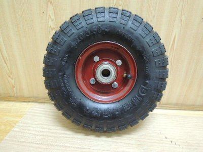 *中崙五金【附發票】專業高品質 10吋 PU輪 風輪 打氣輪胎 手推車輪 獨輪車輪 雙軸承設計