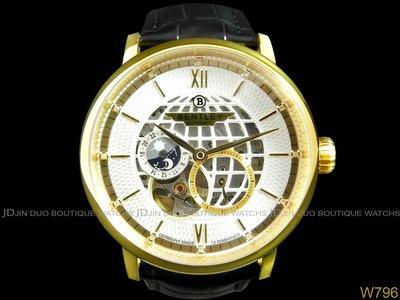 金鐸精品~W796 BENTLEY 賓利 Denarium 旗艦徽章雙面鏤空 43mm自動上鍊男用鑽錶 全新品