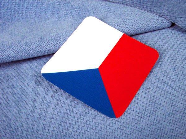 【衝浪小胖】捷克方形旅行箱貼紙/抗UV防水/登機行李箱/世界多國可收集訂製