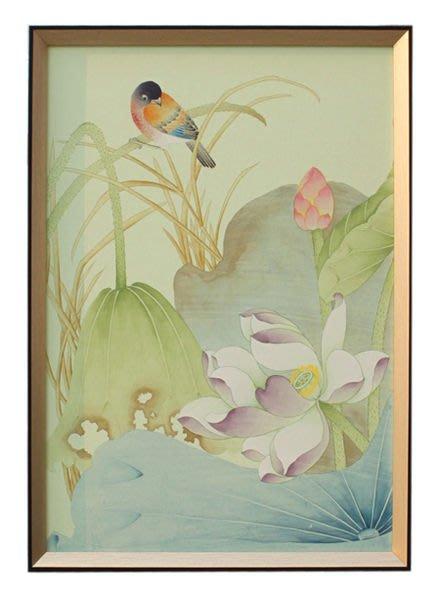 【芮洛蔓 La Romance】東情西韻系列手繪絹絲畫飾 CHF-005