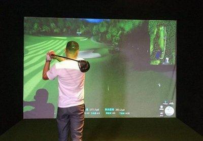 【奇滿來】高爾夫模擬練習打擊投影布幕 300*290CM 高爾夫專用打擊消音布幕 高爾夫模擬器投影布幕 AZAM