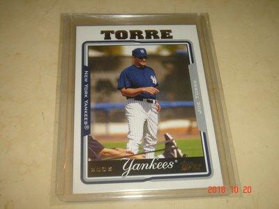 美國職棒 Yankees Manager Joe Torre 2005 Topps #286 球員卡