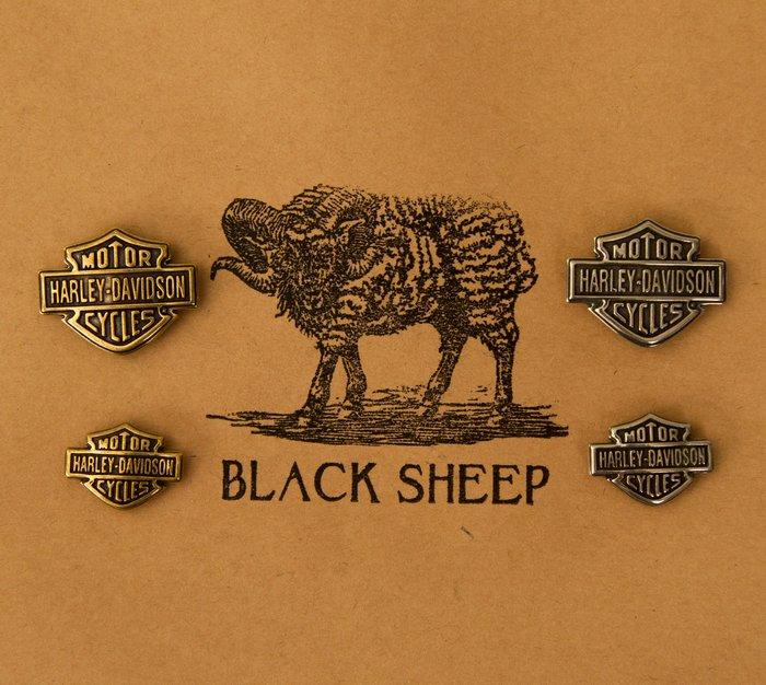 黑羊選物 黃銅 哈雷飾品 車牌飾品 可別在外套 純黃銅製作 結實有手感 brass 隨身小物 鑰匙圈