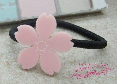 *。漾漾小舖*充滿春意希望單個粉紅甜美櫻花髮夾.精鍍白K【F502】☆雜誌款