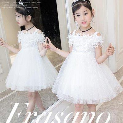 洋裝 女童連身裙 新款韓版禮服 蓬蓬紗裙子洋氣公主裙 生日禮物—莎芭