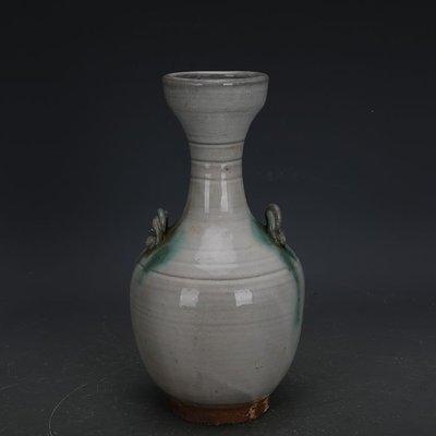 ㊣姥姥的寶藏㊣ 唐代邢窯白釉點彩手工瓷雙系瓶  出土古瓷器古玩古董收藏擺件