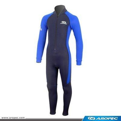 台灣潛水---AROPEC  兒童款Lycra長袖長褲連身防曬水母衣