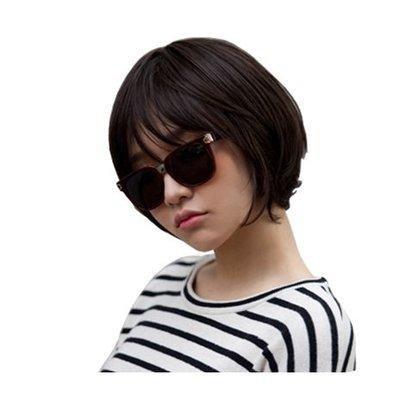 整頂 假髮 真髮絲-鮑伯頭內彎短髮舒適女假髮2色73vc11[獨家進口][米蘭精品]