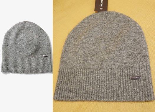 大降價!全新 Michael Kors Men MK 高質感灰色極簡設計款羊毛針織帽!低價起標無底價!本商品免運費!