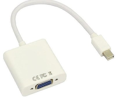 Mini DisplayPort to VGA/Mac 電腦 轉VGA/投影機/螢幕/Mini DP to VGA
