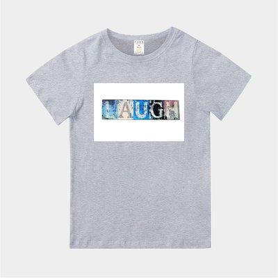T365 MIT 親子裝 T恤 童裝 情侶裝 T-shirt 標語 話題 口號 標誌 美式風格 slogan LAUGH