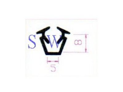 F5【昇瑋鋁窗五金】 玻璃條(小) 氣密條 5 mm X 8 mm 壓條 鋁門窗 氣密窗 DIY 五金