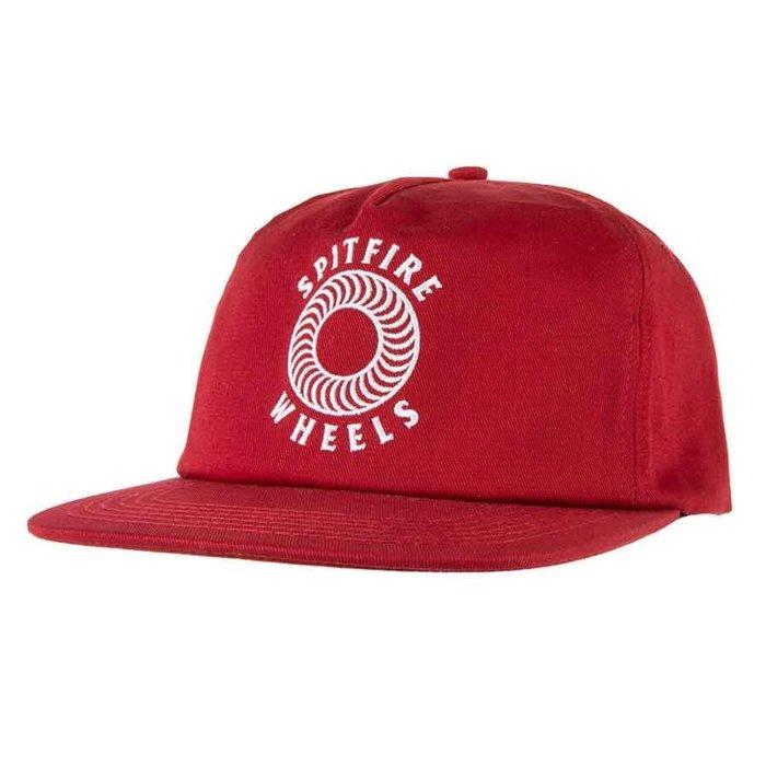[CABAS滑板店] SPITFIRE OG CLASSICS SNAPBACK 暗紅色 │滑板 火焰 可調式 老帽