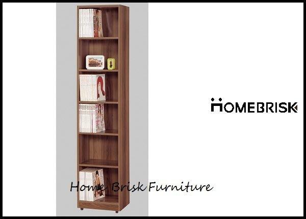 【宏興HOME BRISK】卡洛斯1.5尺淺胡桃色開放式書櫃,促銷全省西部市區免運費,《QM新品16》