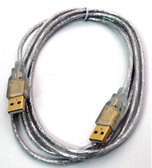 【開心驛站】1.8米 USB2.0 A公-A公鍍金透明強化線