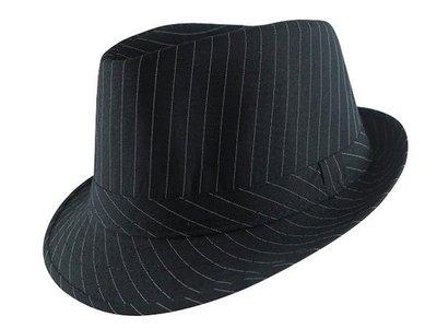 ☆二鹿帽飾☆全新 黑色款斜條紋紳士帽 -表演團體紳士帽