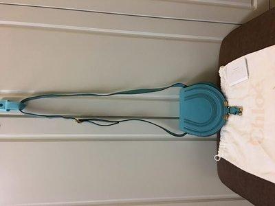 98%New Chloe 藍色真皮小手袋 100%real (特價$5,900包郵,不退換)