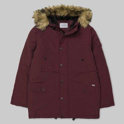 現貨 carhartt wip Anchorage Parka 酒紅 紅色 藍色 防潑水 連帽 軍裝 大衣 外套 風衣