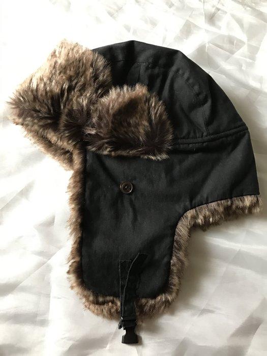 【天普小棧】A&F Abercrombie&Fitch Faux Fur Trapper Hat保暖飛行帽雪地必備黑色
