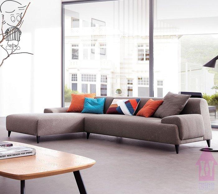 【X+Y時尚精品傢俱】現代沙發系列-樂布朗 L型布沙發.布套可拆洗.簡約風格.摩登家具