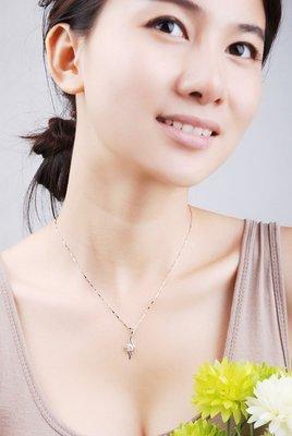 ~~小靖的店~~925純銀 流行款 天使之羽愛心鑲鑽造型項鍊 鎖骨鍊 特價一條488元
