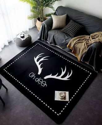 ☆[新荷手作]NH☆工業風-鹿角地毯160*230工業風地毯 LOFT地墊  展示區/客廳/臥室/餐廳/書房拍照