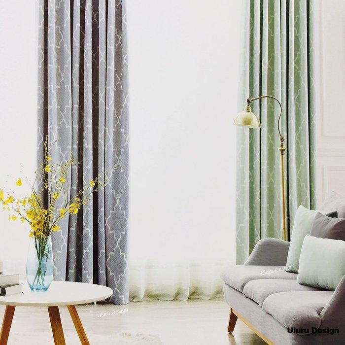 簡約北歐風格 幾何圖型窗簾 傳統褶 (3折) S勾 對開式 145x250cm  DIY窗簾 訂製窗簾 窗簾布 成品窗簾