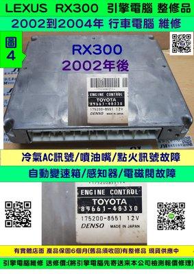 LEXUS RX300 引擎電腦2002-(勝弘汽車 ) 89661-48170 ECM ECU 行車電腦  維修 修理